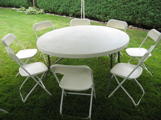 RENTALS LINENS WESTMONT PARTY - Outdoor table tent